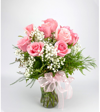 Classic (Medium) Pink Rose Arrangement