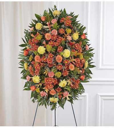 Sympathy Standing Spray -  Fall Colors