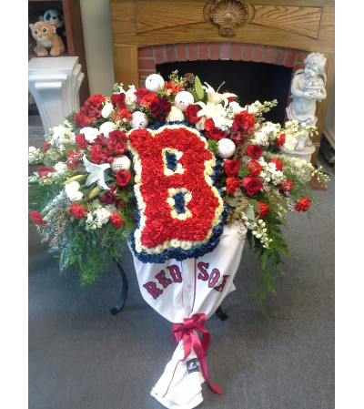 Red Sox Casket Spray