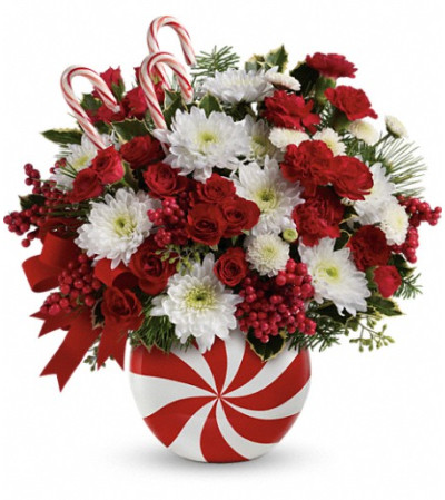Teleflora's Peppermint Swirl Bouquet