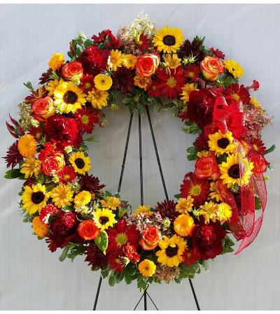 Funeral Wreath - Autumn