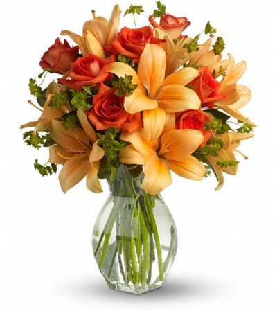 Fiery Lily and Rose