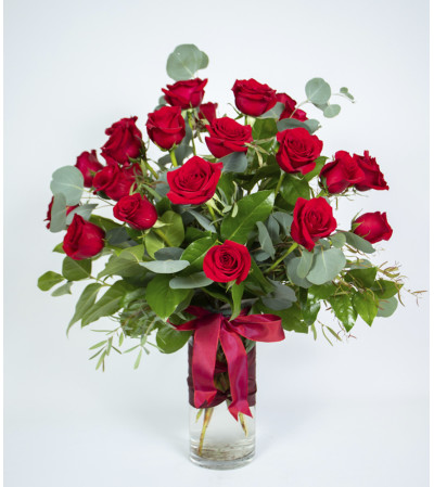 Abundant Rose Vase