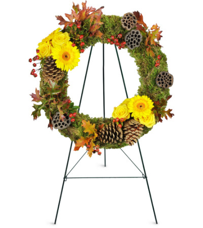 Autumn Glory Sympathy Wreath™