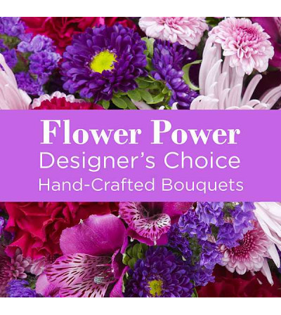 Purple Colors Florist Designed Bouquet