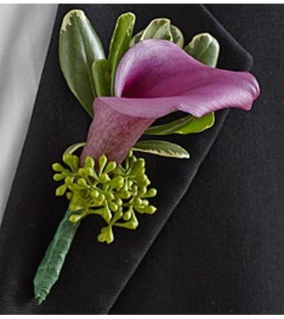 Boutonniere Elegance Purple