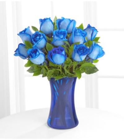A Dozen Blue Roses