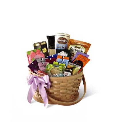 The FTD® Quiet Tribute™ Gourmet Basket