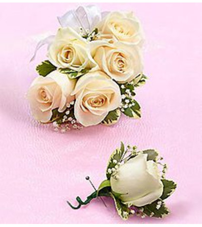 Boutonniere & Corsage White  *PICK UP ONLY*