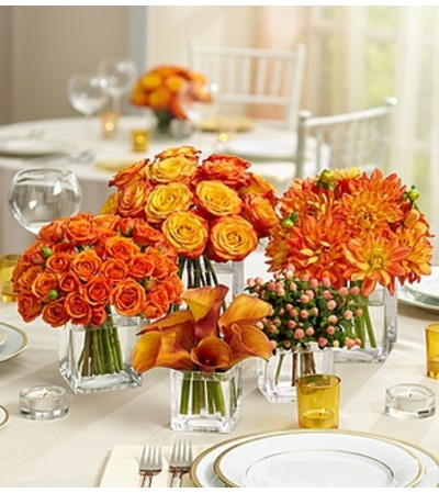 Golden Sunset Centerpiece Package