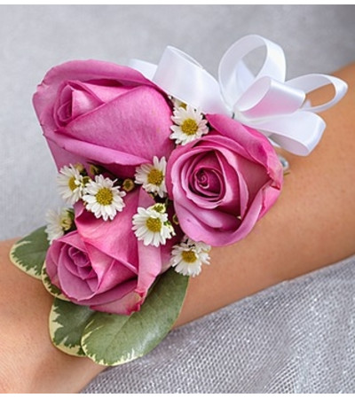 Purple Elegance Corsage - Rose