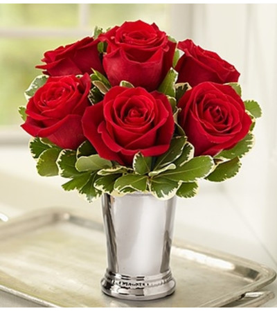 Julep Cup Rose Arrangement - Red