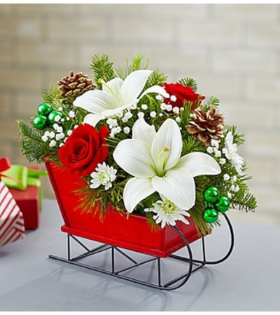 Christmas Gathering Sleigh Arrangement
