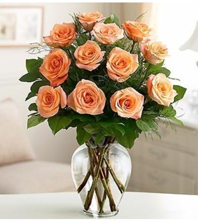 Rose Elegance™ Premium Peach Roses