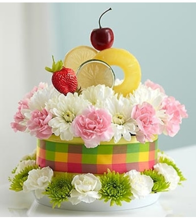 Fresh Flower CakeTM Fruit Cake