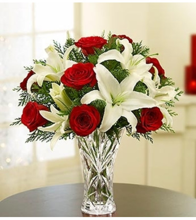Lenox® Crystal Vase Holiday Arrangement
