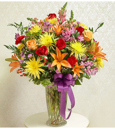 Beautiful Blessings Vase Arrangement - Bright