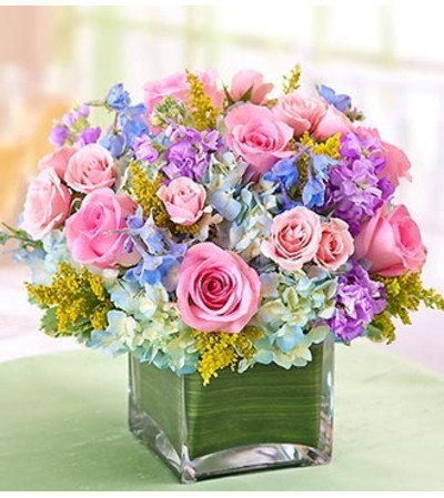 Pastel Centerpiece in a Vase