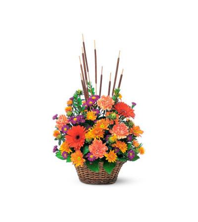 Cattail fall basket