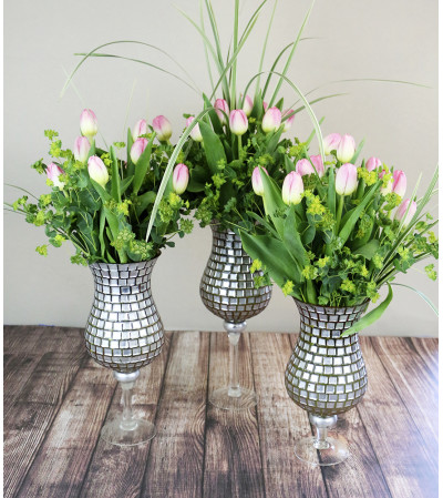 Mosaic Trio Tulip Arrangement