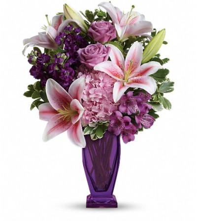 Teleflora's Blushing Violet Bouquet