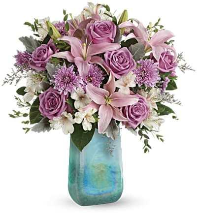 Teleflora's Art Glass Treasure Bouquet