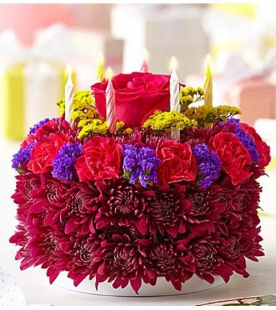 Birthday Flower Cake® Purple