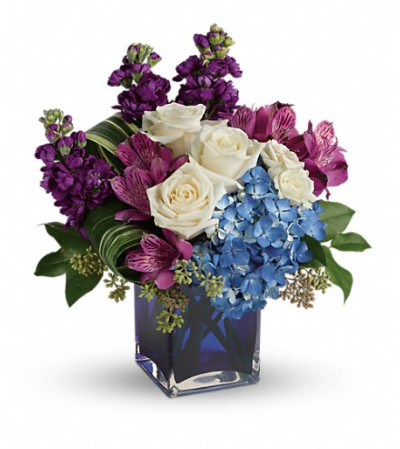 Teleflora's Portrait In Purple Bouquet
