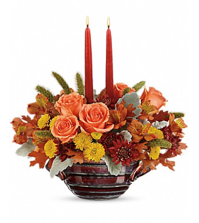 Teleflora's Celebrate Fall Centerpiece