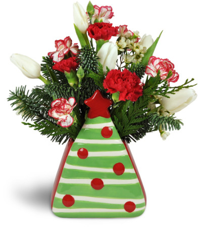 Oh Christmas Tree Carnation Vase™