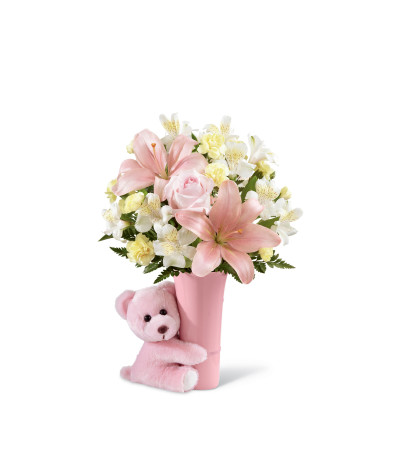 The FTD® Baby Girl Big Hug® Bouquet