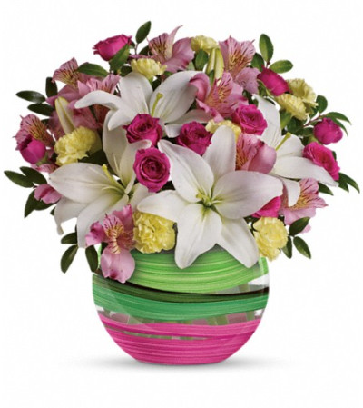 Teleflora's Paint It Pastel Bouquet