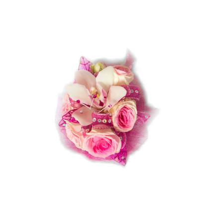 Retro Pink Corsage