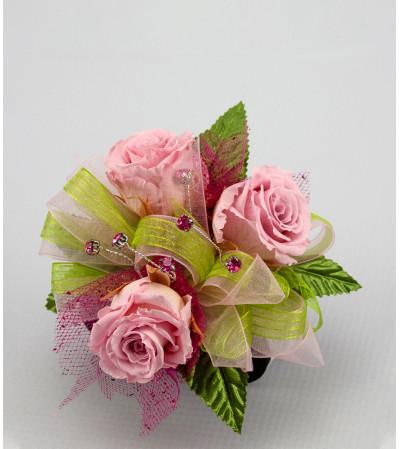 Keepsake Corsage - Preserved Pink Roses