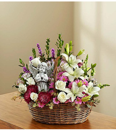 Heavenly Angel™ Lavender & White  Basket
