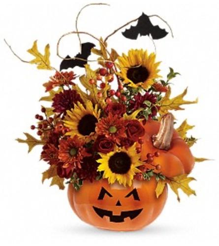 Trick or Treat Pumpkin Arrangement