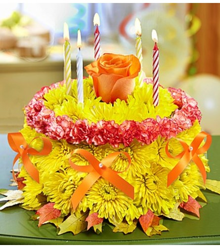 Marvelous Flower Birthday Cake Miami Fl Florist Funny Birthday Cards Online Alyptdamsfinfo