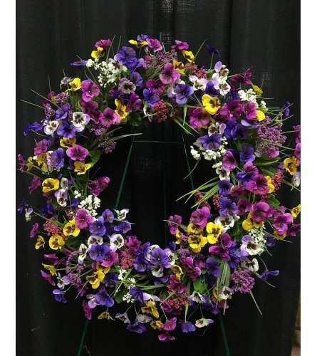 Purple Colors Wreath