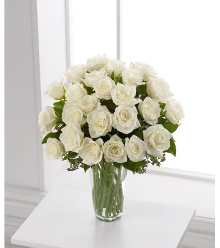 FTD white rose Bouquet