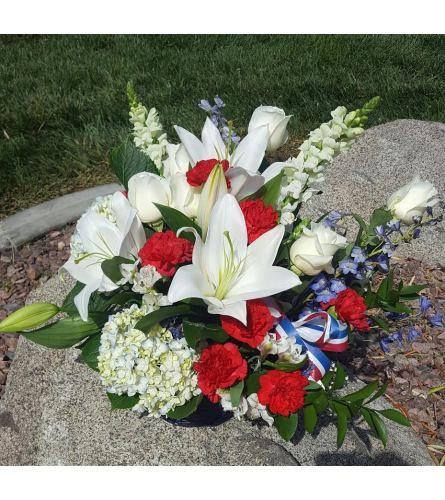 Sweet liberty Graveside Arrangement