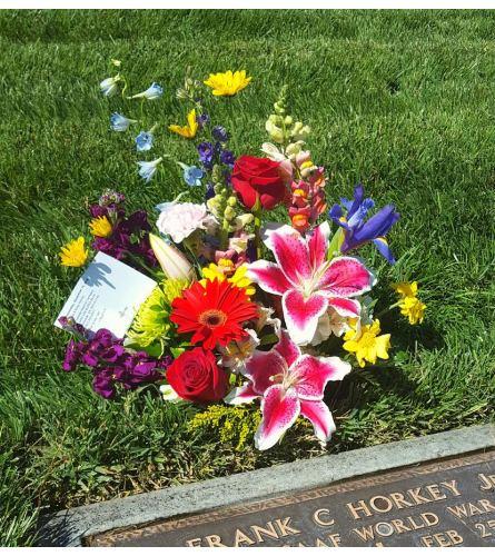 Spring Bliss Gravesite Arrangement