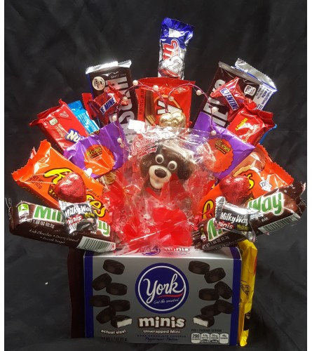 Valentine Candy Bar Bouquet