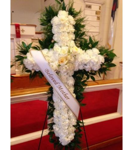 Large All White Standing Cross