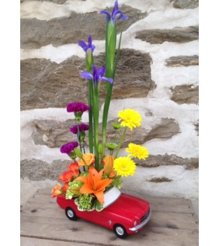 '65 Ford Mustang Floral Design