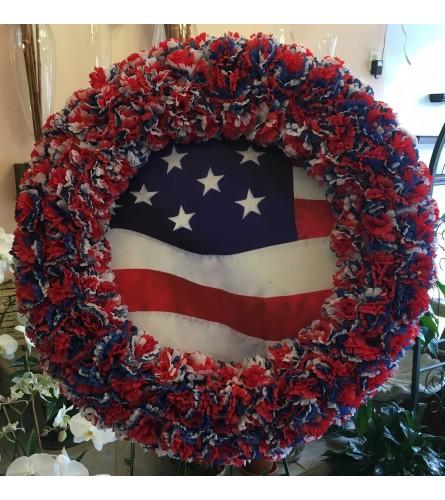 Patriotic Artificial Wreath