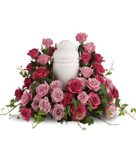 Bed of Roses Urn Floral