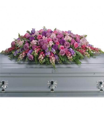 Lilac Tribute Casket Spray