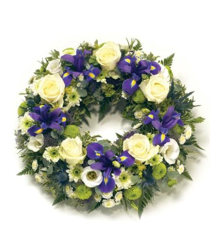 Iris Burst Wreath