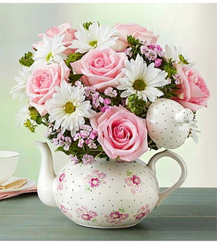 Beautiful Teapot of Blooms