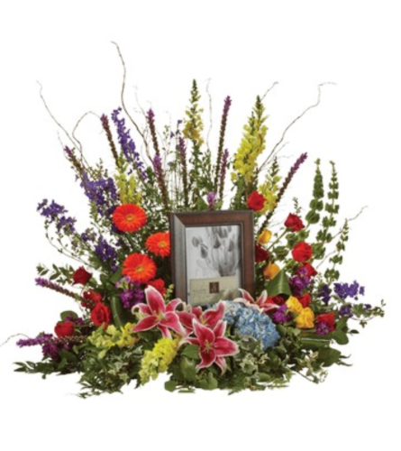 Flower Surround for Urn or Photo Frame